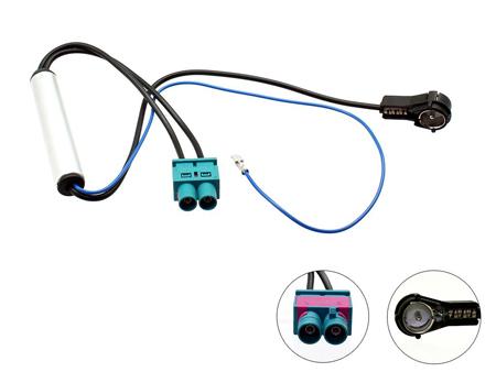 Audi//Volkswagen Doble Twin Doble FAKRA-ISO Adaptador De Antena Aérea