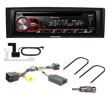 renault clio 2005 2008 fitting kit pioneer deh 4900dab. Black Bedroom Furniture Sets. Home Design Ideas