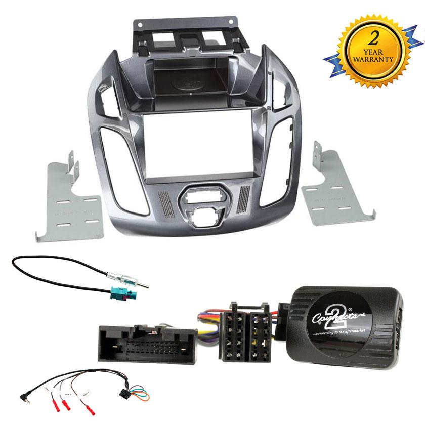 Ford Transit Connect 03 sobre Doble Din Stereo Kit de montaje Inc tallo Control
