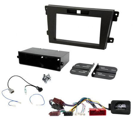 Double Din Car Stereo Steering Wheel Control NON BOSE Fitting Kit for Mazda