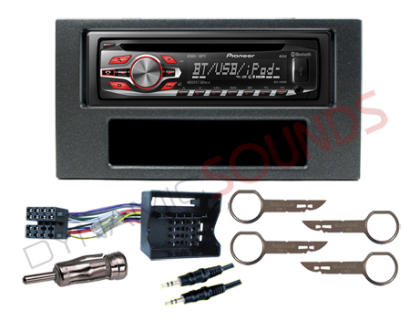 ford focus 2005 gt fitting kit with pioneer deh 4400bt cd mp3 bluetooth stereo ebay