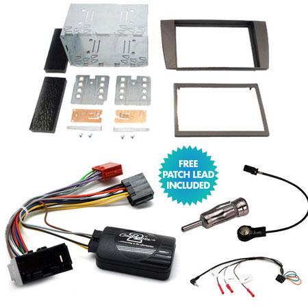 S Type SIngle Din Stereo Radio Fitting Kit Fascia Panel Lead Adapter Jaguar X