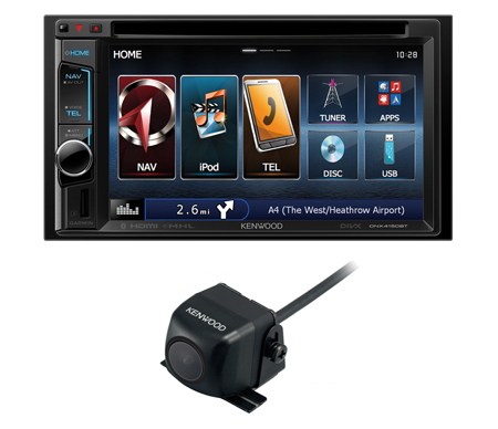 kenwood dnx 4150bt dvd bluetooth sat nav car stereo 6 2. Black Bedroom Furniture Sets. Home Design Ideas