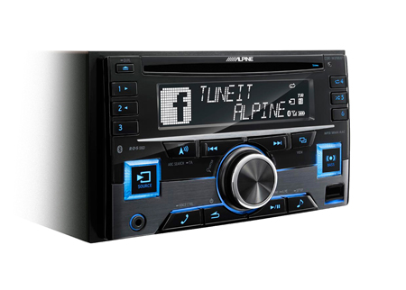 alpine cde w296bt double din cd mp3 stereo bluetooth aux in usb ipod iphone ebay. Black Bedroom Furniture Sets. Home Design Ideas
