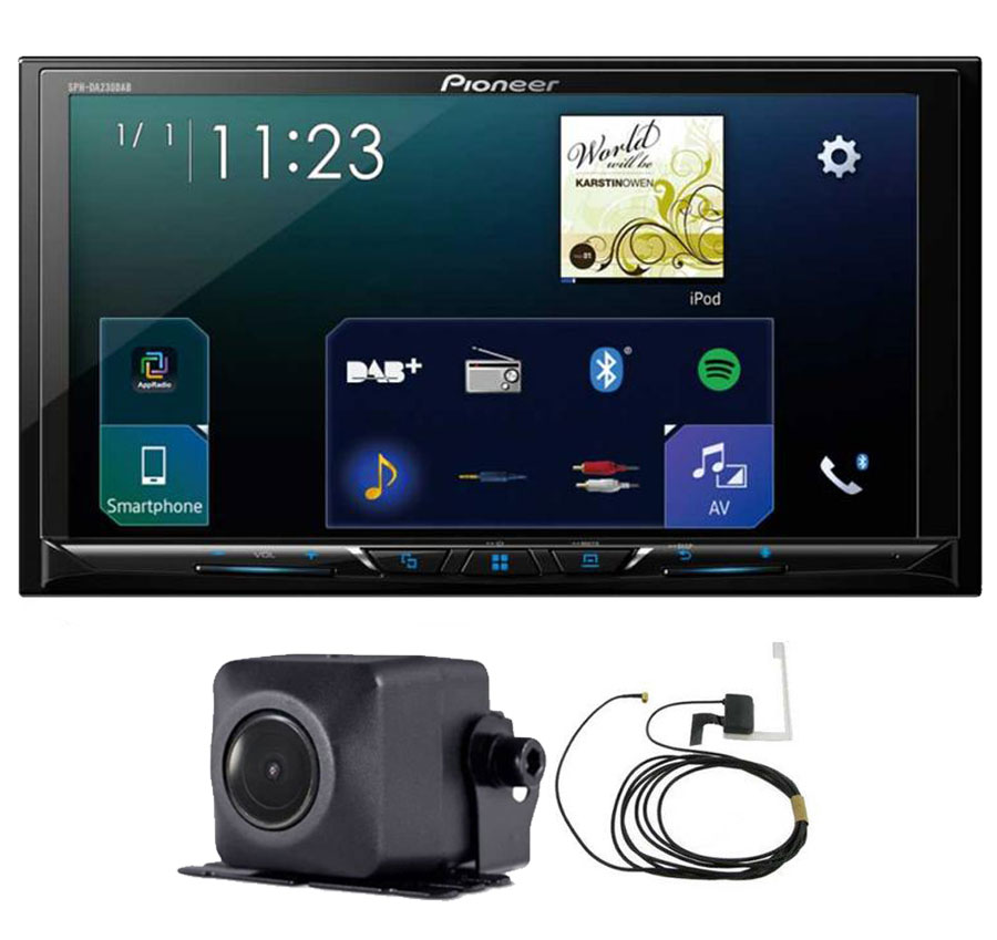 pioneer sph da230dab 7 screen apple car play bluetooth nd bc8 camera aerial ebay. Black Bedroom Furniture Sets. Home Design Ideas