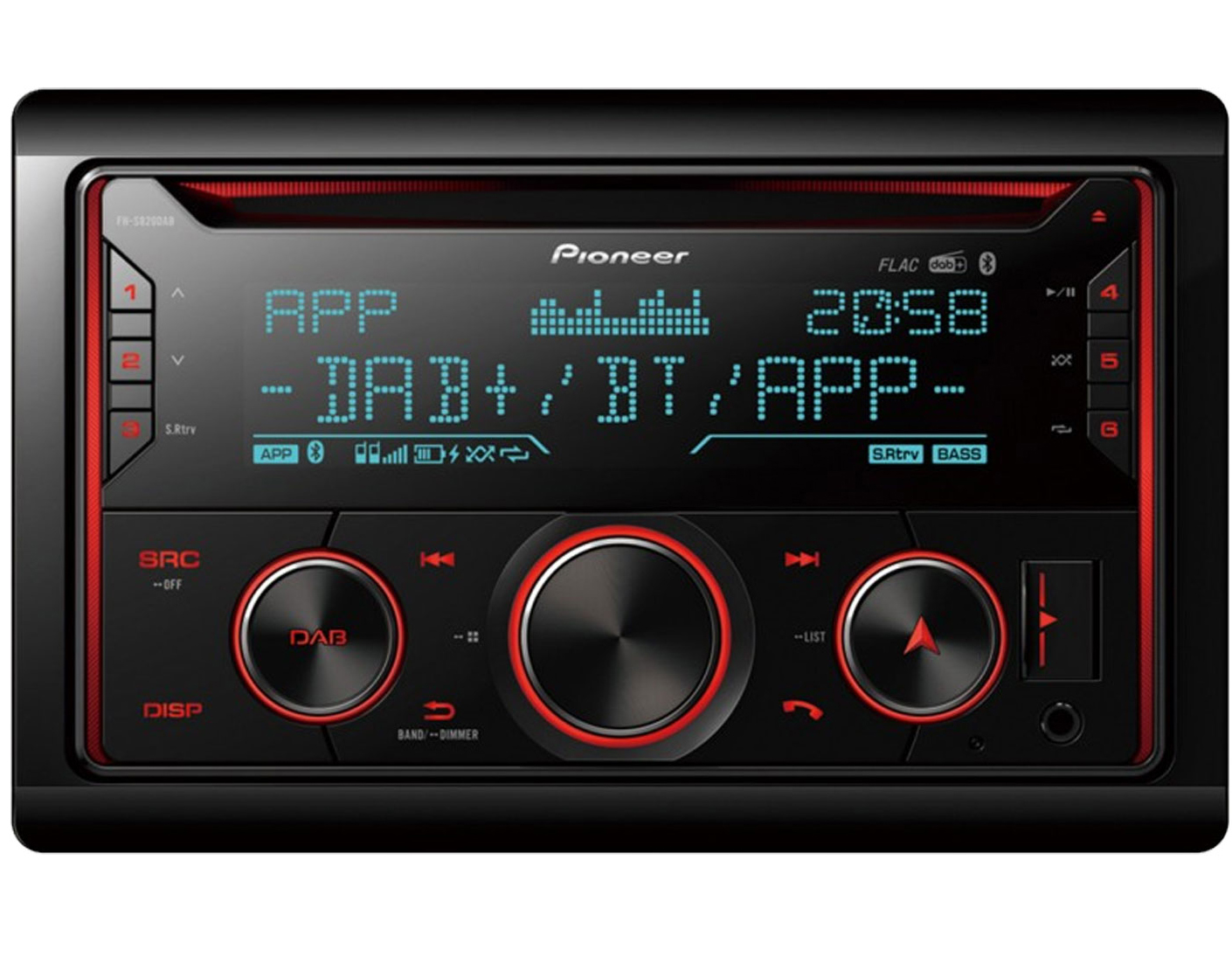 """Bluetooth Spotify WebLink 6/"""" Display Pioneer DMH-A3300DAB 2-DIN Autoradio DAB"""