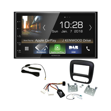 Details about Kenwood DMX7018DABS DAB+ Bluetooth Stereo Upgrade Kit for  Renault Trafic 2015>