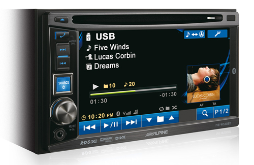 alpine ive w530bt double din cd dvd mp3 bluetooth car stereo ipod 6 1 screen ebay. Black Bedroom Furniture Sets. Home Design Ideas