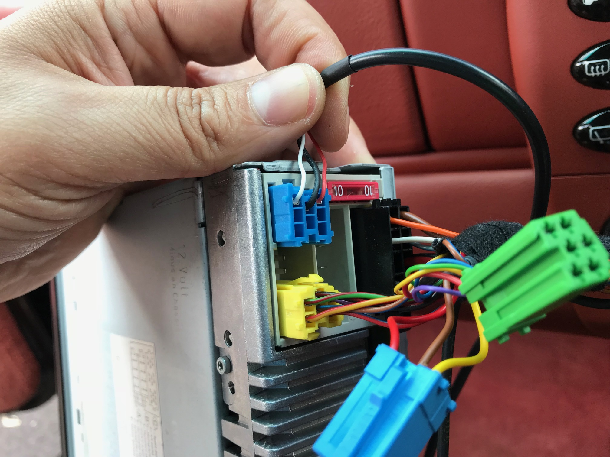 Car Radio Stereo 35mm Jack Aux In Input Lead Porsche Cr 22 1 Wiring Note Must Be Activated From Stereoif Fitted With Cd Changer This Unplugged Some Casesfor To Work