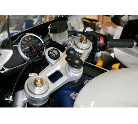 12 Mm Vástago montaje para Garmin Nuvi Gps encaja Honda Blackbird /& Motos Kawasaki