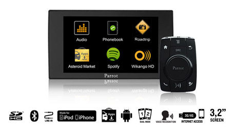 parrot asteroid mini apps music bluetooth handsfree ipod. Black Bedroom Furniture Sets. Home Design Ideas