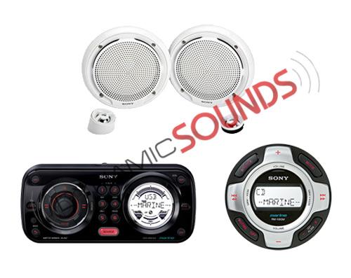 sony cdx-hr910ui marine cd mp3 usb player, xs-mp1650w speakers