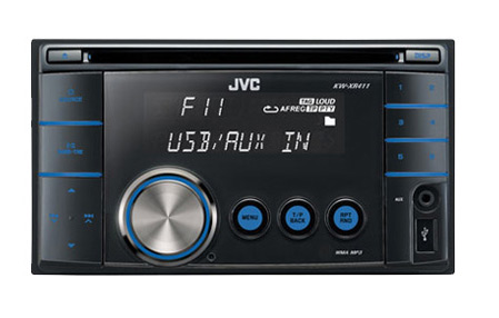 jvc kw xr411 double din cd mp3 wma car stereo front usb ebay. Black Bedroom Furniture Sets. Home Design Ideas